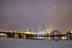 Χιόνι στη Δρέσδη Γερμανία Στοκ Φωτογραφίες