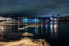 Γέφυρα και νύχτα Στοκ Φωτογραφία