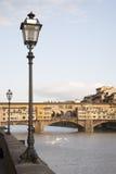 Γέφυρα και ο ποταμός Arno, Φλωρεντία Vecchio Ponte Στοκ Φωτογραφίες