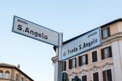 Γέφυρα και Castel Sant Angelo στον ποταμό Tiber Στοκ Εικόνες