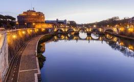 Γέφυρα και Castel Sant ` Angelo Sant ` Angelo Ponte Στοκ Εικόνες