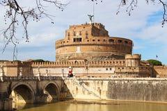 Γέφυρα Sant'Angelo και Castle, Ρώμη Στοκ εικόνες με δικαίωμα ελεύθερης χρήσης