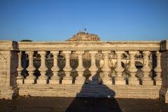 Γέφυρα και Sant ` Angelo Castel, Ρώμη Sant ` Angelo Στοκ Εικόνα