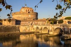 Γέφυρα και Sant ` Angelo Castel, Ρώμη Sant ` Angelo Στοκ εικόνες με δικαίωμα ελεύθερης χρήσης