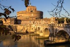Γέφυρα και Sant ` Angelo Castel, Ρώμη Sant ` Angelo Στοκ φωτογραφία με δικαίωμα ελεύθερης χρήσης