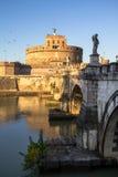 Γέφυρα και Sant ` Angelo Castel, Ρώμη Sant ` Angelo Στοκ εικόνα με δικαίωμα ελεύθερης χρήσης