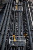 Γέφυρα και supertanker σωληνώσεων Στοκ φωτογραφία με δικαίωμα ελεύθερης χρήσης