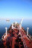 Γέφυρα και supertanker σωληνώσεων Στοκ Εικόνες