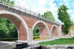 Γέφυρα Καταλωνία Στοκ Εικόνα