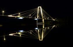Γέφυρα καλωδίων σε UmeÃ¥, Σουηδία Στοκ Φωτογραφία