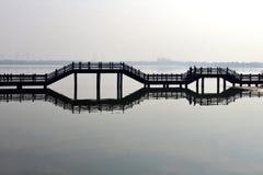 γέφυρα κινέζικα Στοκ εικόνες με δικαίωμα ελεύθερης χρήσης