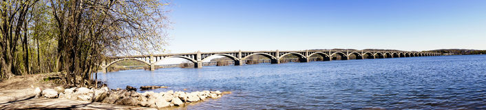 γέφυρα Κολούμπια wrightsville Στοκ Εικόνα