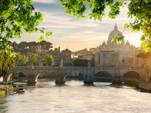 Γέφυρα κοντά σε Βατικανό Στοκ Φωτογραφίες