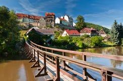 Γέφυρα κρεμαστών κοσμημάτων, Loket, Δημοκρατία της Τσεχίας Στοκ Φωτογραφία