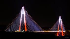 Γέφυρα Κωνσταντινούπολη σουλτάνων Yavuz selim στοκ φωτογραφία με δικαίωμα ελεύθερης χρήσης