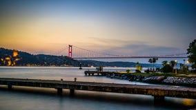 Γέφυρα Κωνσταντινούπολη Τουρκία Bosphorus Στοκ φωτογραφία με δικαίωμα ελεύθερης χρήσης