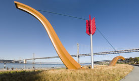 γέφυρα κόλπων αψίδων Στοκ φωτογραφία με δικαίωμα ελεύθερης χρήσης