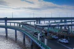 Γέφυρα κόλπων της Κίνας ` s Hangzhou Στοκ εικόνα με δικαίωμα ελεύθερης χρήσης