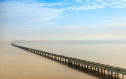 Γέφυρα κόλπων της Κίνας ` s Hangzhou Στοκ φωτογραφίες με δικαίωμα ελεύθερης χρήσης