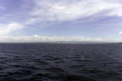 Γέφυρα κόλπων Guanabara στο Ρίο ντε Τζανέιρο Στοκ φωτογραφία με δικαίωμα ελεύθερης χρήσης