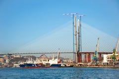 γέφυρα κόλπων rog zolotoy Στοκ εικόνες με δικαίωμα ελεύθερης χρήσης