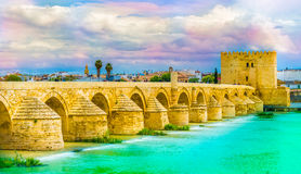 γέφυρα Κόρδοβα Ρωμαίος Στοκ φωτογραφία με δικαίωμα ελεύθερης χρήσης