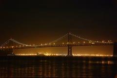 Γέφυρα κόλπων SAN Francisco-Όουκλαντ Στοκ Εικόνα