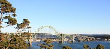 Γέφυρα κόλπων Yaquina Στοκ Εικόνες