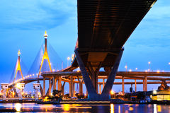 Γέφυρα κύκλων βιομηχανίας, Μπανγκόκ, Ταϊλάνδη Στοκ Εικόνα