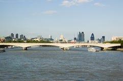 γέφυρα Λονδίνο Βατερλώ Στοκ Εικόνες