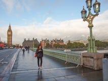 Γέφυρα Λονδίνο του Γουέστμινστερ Στοκ Φωτογραφία