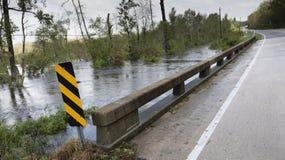 Γέφυρα μετά από τον τυφώνα Φλωρεντία στοκ φωτογραφία με δικαίωμα ελεύθερης χρήσης