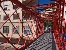 Γέφυρα μετάλλων σε Gerona Στοκ Φωτογραφίες