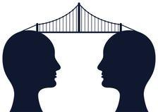 Γέφυρα μεταξύ των μυαλών Στοκ φωτογραφία με δικαίωμα ελεύθερης χρήσης
