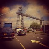 Γέφυρα μεταφορέων του Νιούπορτ Στοκ εικόνες με δικαίωμα ελεύθερης χρήσης