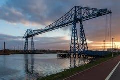 Γέφυρα μεταφορέων, Middlesbrough, UK στοκ φωτογραφίες