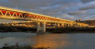 Γέφυρα μετρό σε Nizhny Novgorod 1 Στοκ Εικόνα