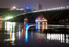 Γέφυρα μετρό στο Κίεβο, Ουκρανία Στοκ Φωτογραφίες