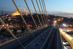 Γέφυρα μετρό της Ιστανμπούλ Στοκ Φωτογραφίες