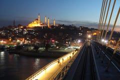 Γέφυρα μετρό της Ιστανμπούλ Στοκ Εικόνα