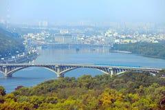 Γέφυρα μετρό Kyiv, Ουκρανία Στοκ Φωτογραφία