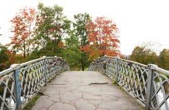 Γέφυρα με τις κλειδαριές Petrozavodsk, Ρωσία 23 09 2015 Στοκ Φωτογραφίες