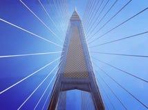 Γέφυρα Μπανγκόκ Ταϊλάνδη Bhumibol στοκ φωτογραφία