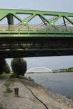 Γέφυρα Μπρατισλάβα τραμ Στοκ Φωτογραφία