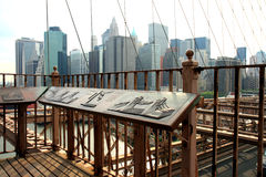 γέφυρα Μπρούκλιν διάσημο στοκ εικόνα