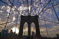 γέφυρα Μπρούκλιν Μανχάτταν Στοκ φωτογραφία με δικαίωμα ελεύθερης χρήσης