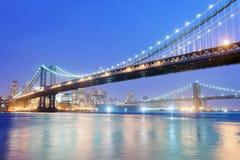γέφυρα Μπρούκλιν Μανχάτταν Στοκ Φωτογραφίες