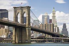 γέφυρα Μπρούκλιν Μανχάτταν Στοκ Εικόνα