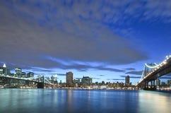 γέφυρα Μπρούκλιν Μανχάτταν &Nu Στοκ εικόνα με δικαίωμα ελεύθερης χρήσης