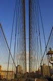 γέφυρα Μπρούκλιν νέες ΗΠΑ Υόρκη Στοκ Εικόνες